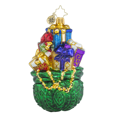 "Christopher Radko Glass Ornament - ""Emerald Treasures"""