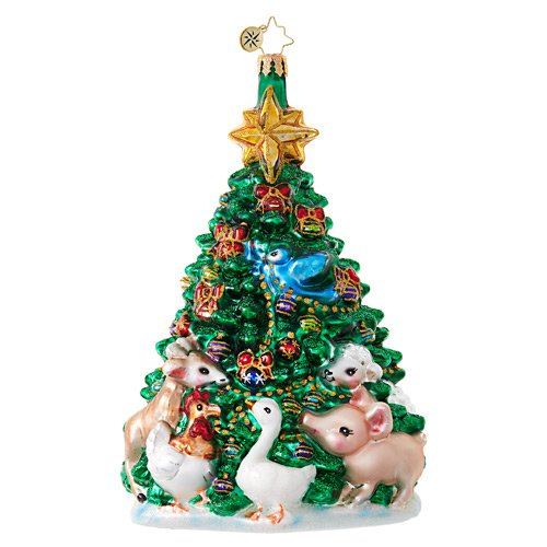 "Christopher Radko Glass Ornament - ""Farm Fresh Christmas Tree"""