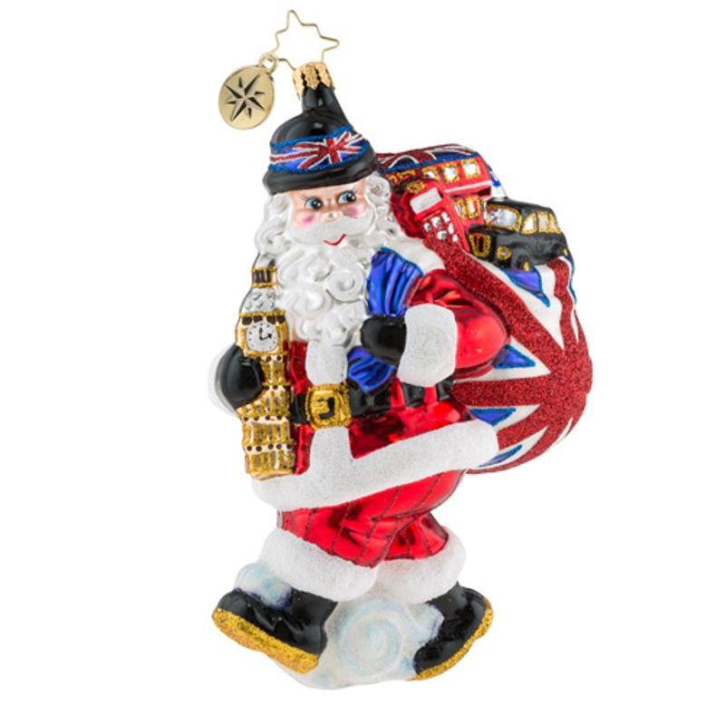 Christopher Radko Glass Ornament - Father Christmas Does London 2018