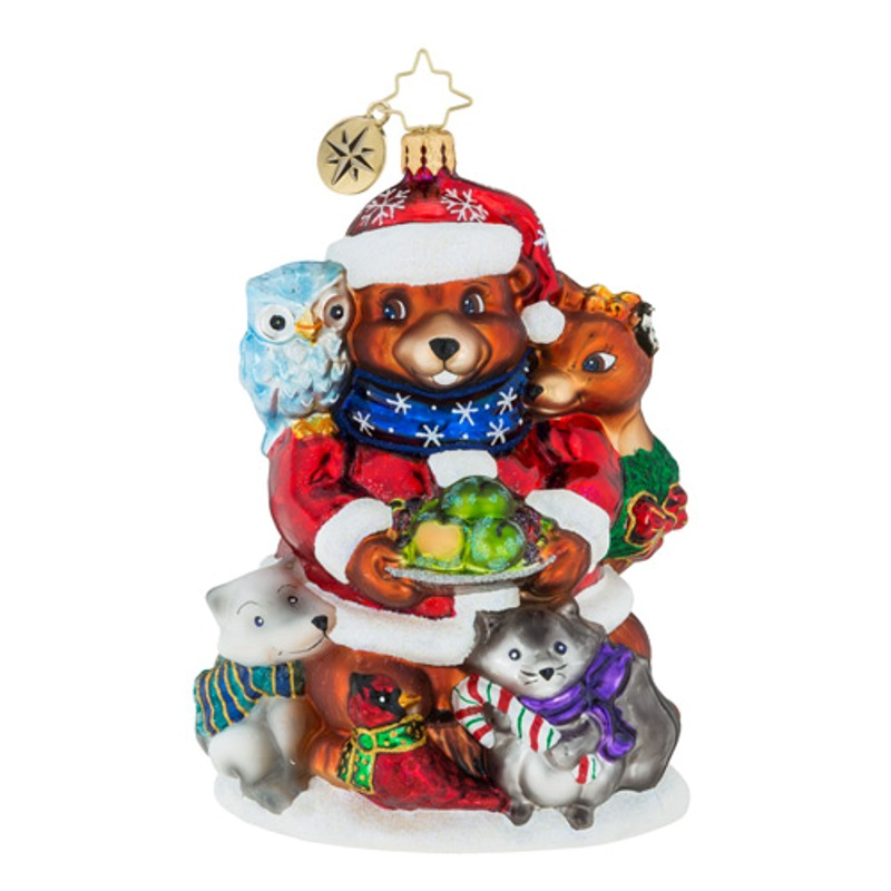 Christopher Radko Glass Ornament - Forest Family Holiday 2018