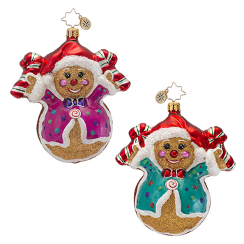 """Christopher Radko Glass Ornament  - """"Fred and Ginger Ornament"""""""