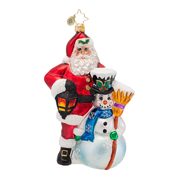 "Christopher Radko  Glass Ornament - ""Friends Till The End Ornament"""
