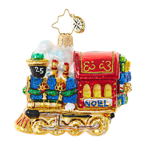 Christopher Radko Glass Ornament Gem - All Aboard