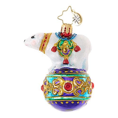 Christopher Radko Glass Ornament Gem - Bejeweled Balancer