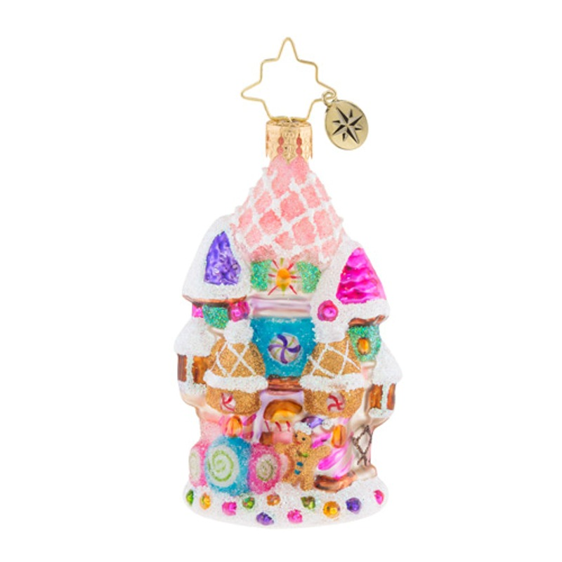 Christopher Radko Glass Ornament Gem - Candy Castle Christmas 2018