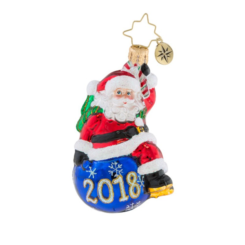 Christopher Radko Glass Ornament Gem - Having A Ball 2018