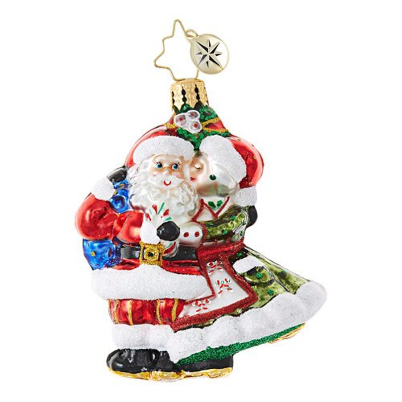 Christopher Radko Glass Ornament - Mr. & Mrs. Mistletoe 2017