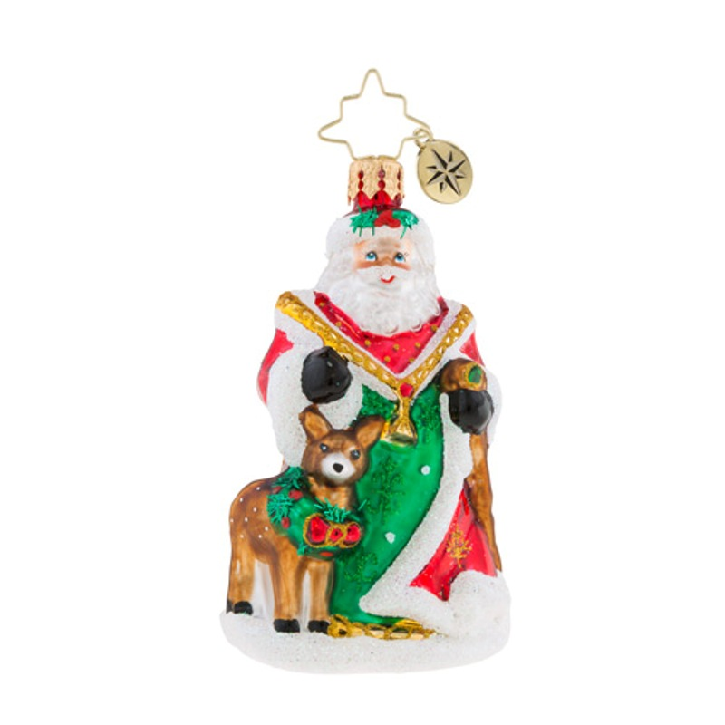 Christopher Radko Glass Ornament Gem - My Deer Santa 2018