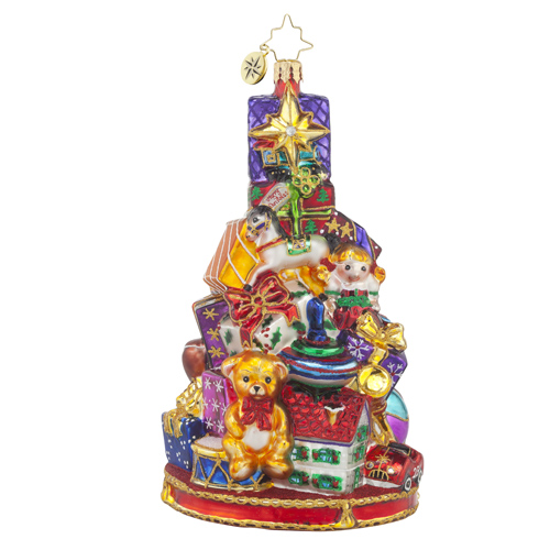 "Christopher Radko Glass Ornament - ""Glorious Gift-Stack"""