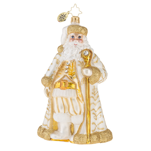 "Christopher Radko Glass Ornament - ""Golden Baroque Nicholas"""