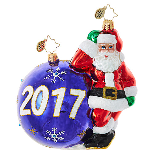 Christopher Radko Glass Ornament - Having a Ball 2017