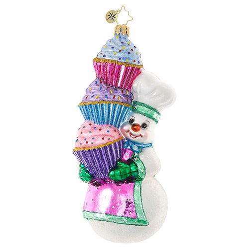 "Christopher Radko Glass Ornament - ""Hey, Cupcake!"""