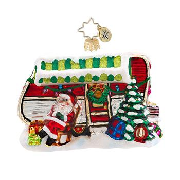 "Christopher Radko Glass Ornament - ""Holiday Camper"""