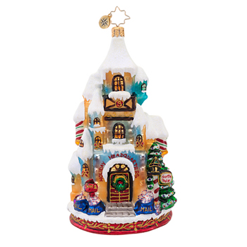 "Christopher Radko Glass Ornament - ""Holiday Headquarters - 1st Ornament"""
