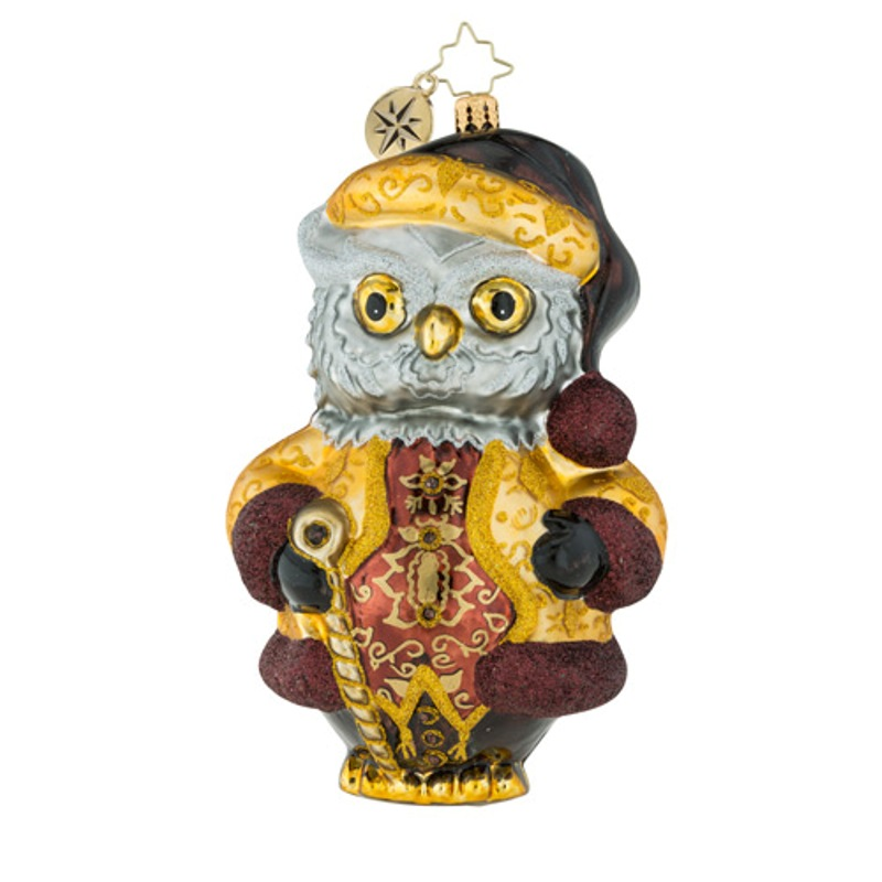 Christopher Radko Glass Ornament - Hoooo Said Victorian 2018