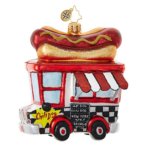 "Christopher Radko Glass Ornament - ""Hot Diggity Dog"""