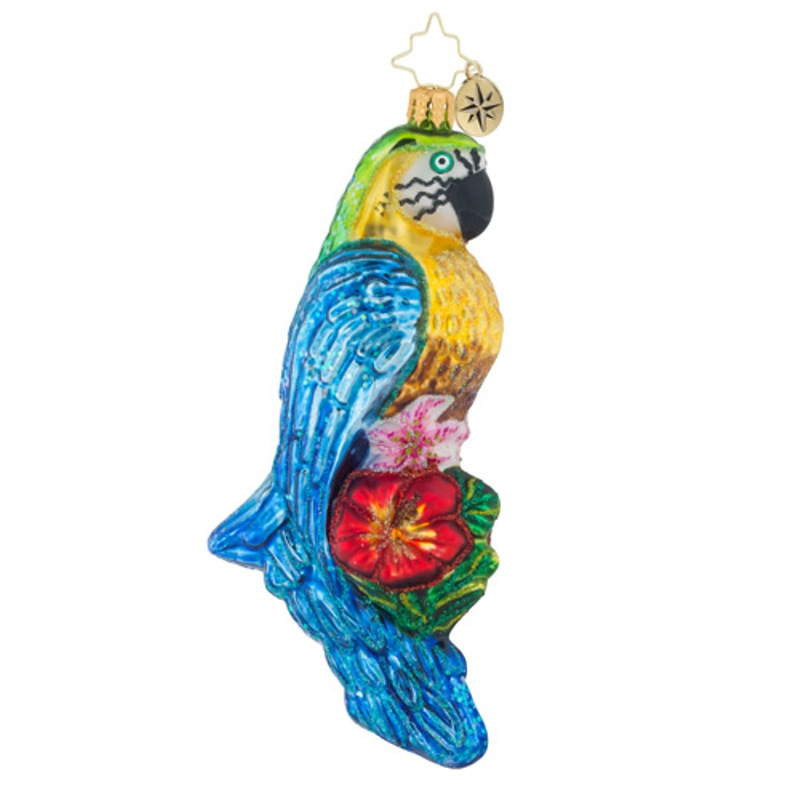 Christopher Radko Glass Ornament - Impeccable Parrot 2018