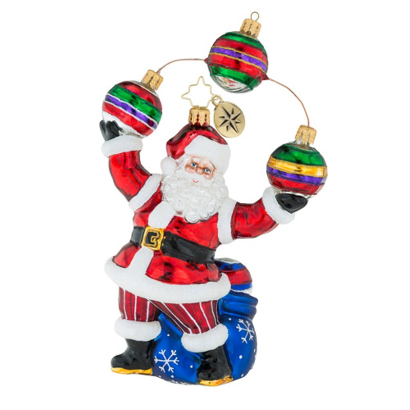 Christopher Radko Glass Ornament - Jolly Juggler 2018