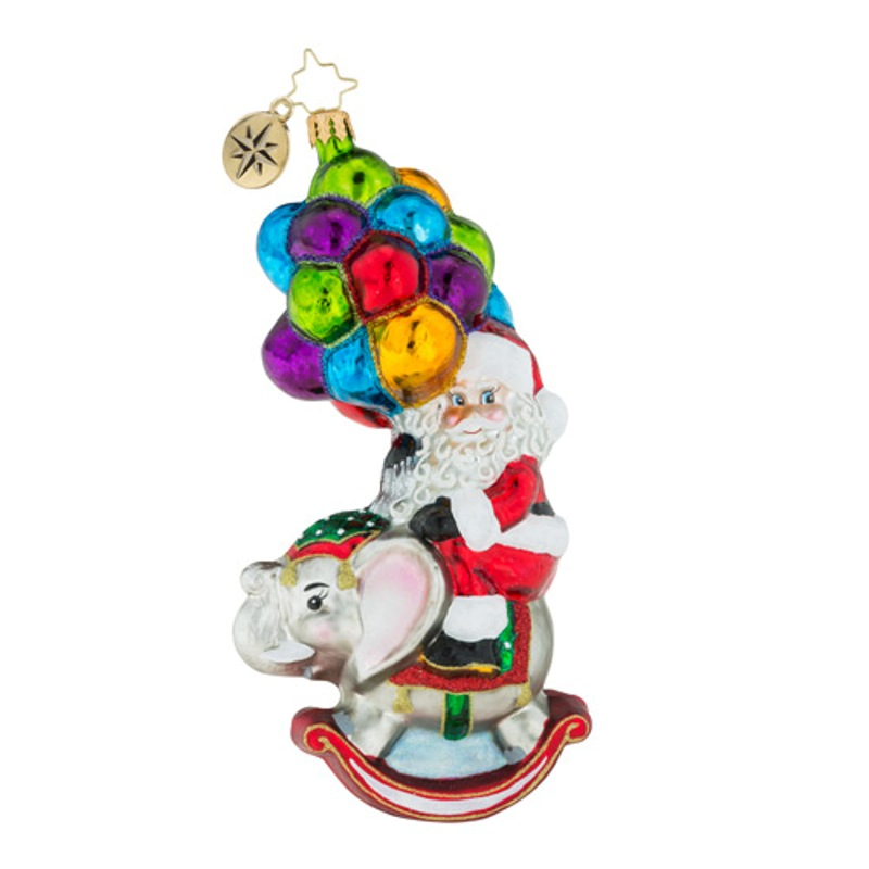 Christopher Radko Glass Ornament - Just Hang In There 2018