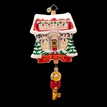 "Christopher Radko Glass Ornament - ""Key For Heart & Home"""
