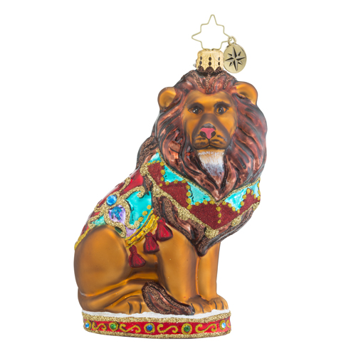 "Christopher Radko Glass Ornament - ""King Of The Jungle"""