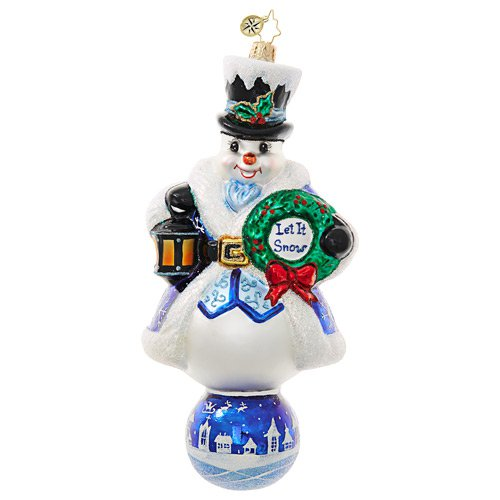 Christopher Radko Glass Ornament - Let It Snow - Ltd Ed.