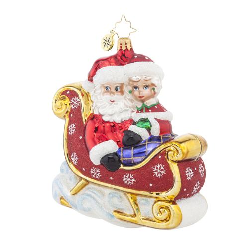 "Christopher Radko Glass Ornament - ""Let's Go For A Ride Darling"""
