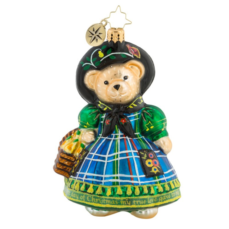 Christopher Radko Glass Ornament - Little Peddler Muffy 2018