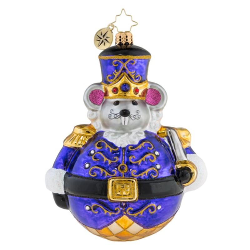 Christopher Radko Glass Ornament - Man Or Mouse Nutcracker 2018