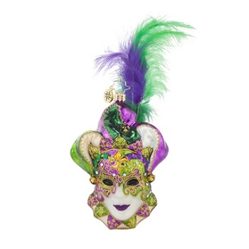 "Christopher Radko Glass Ornament - ""Mardi Masquerade"""