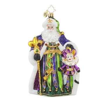 "Christopher Radko Glass Ornament - ""Master Of Mardi Gras"""