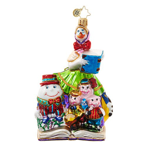 "Christopher Radko Glass Ornament - ""Mother Goose Christmas"""