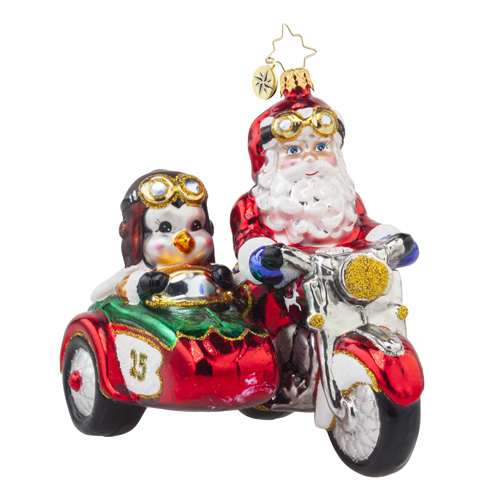 "Christopher Radko Glass Ornament - ""Motorcycle Chums"""
