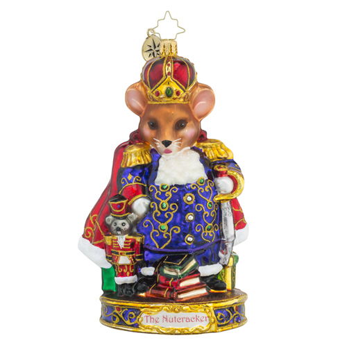 "Christopher Radko Glass Ornament - ""Mouse King"""
