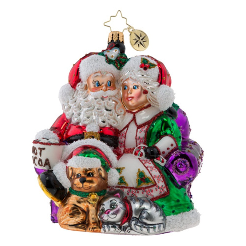 Christopher Radko Glass Ornament - Mr. & Mrs. Clause Pause 2018
