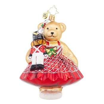 "Christopher Radko Glass Ornament - ""Music Hall Muffy"""