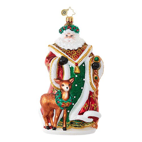 "Christopher Radko Glass Ornament - ""My Deer Santa"""