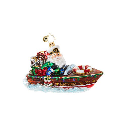 "Christopher Radko Glass Ornament - ""Nautical Nick!"""