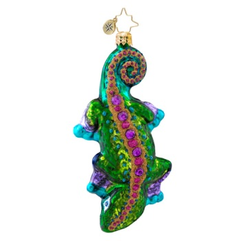 "Christopher Radko Glass Ornament - ""Nifty Newt"""