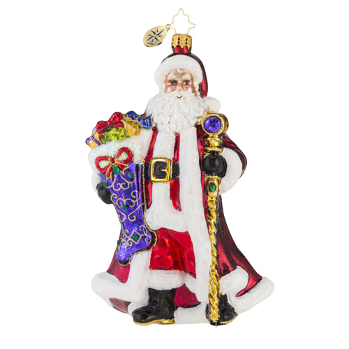 "Christopher Radko Glass Ornament - ""Noble Nicholas"""