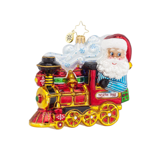 "Christopher Radko Glass Ornament - ""North Pole Express"""