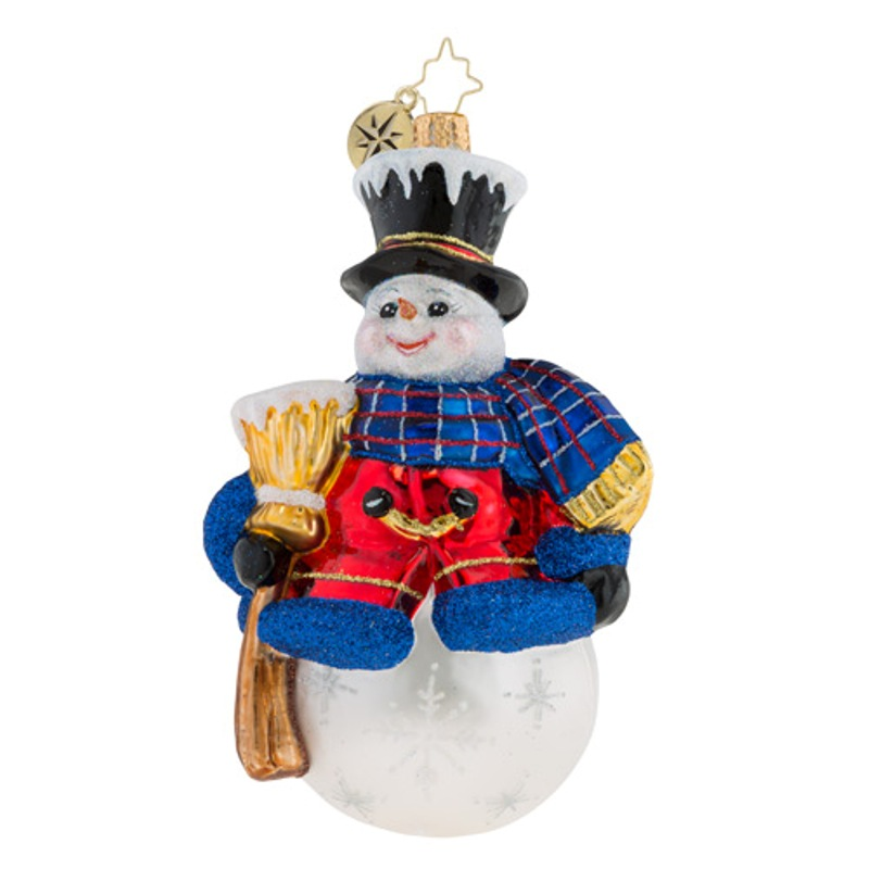 Christopher Radko Glass Ornament - One Frosty Fellow 2018