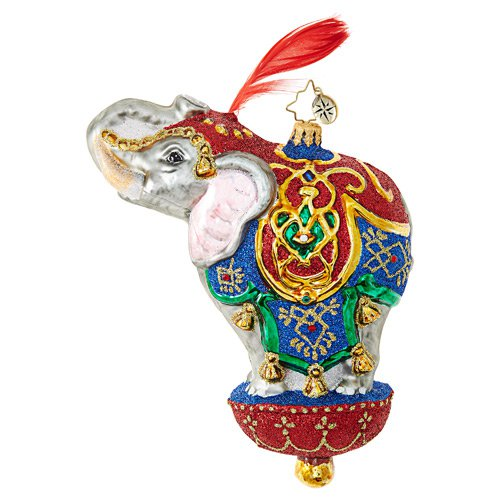 "Christopher Radko Glass Ornament - ""Ornamental Mammoth"""