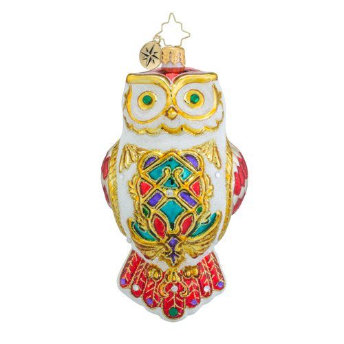"Christopher Radko Glass Ornament - ""Fly Away Owl"""