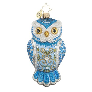 "Christopher Radko Glass Ornament - ""Owl See You In Winter"""