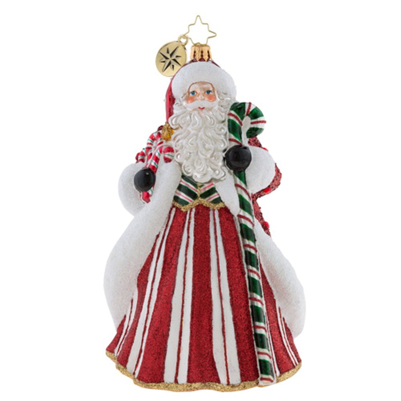 Christopher Radko Glass Ornament - Peppermint Candy Kringle 2018