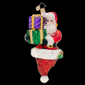 "Christopher Radko Glass Ornament - ""Popin' Claus"""