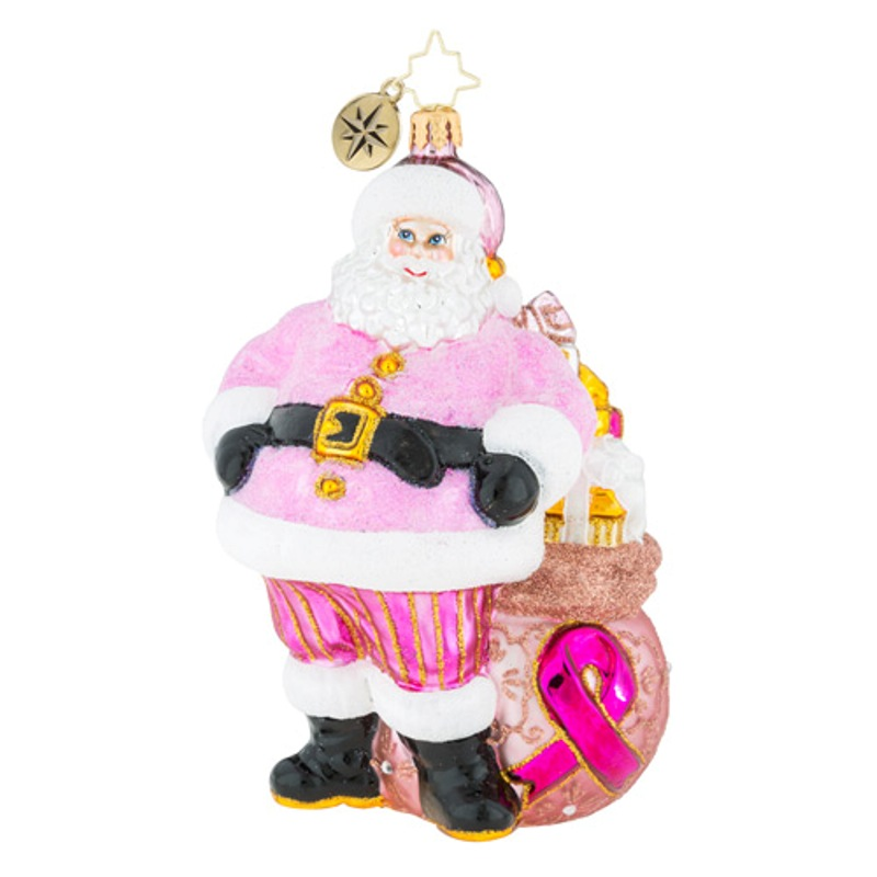 Christopher Radko Glass Ornament - Pretty In Pink 2018