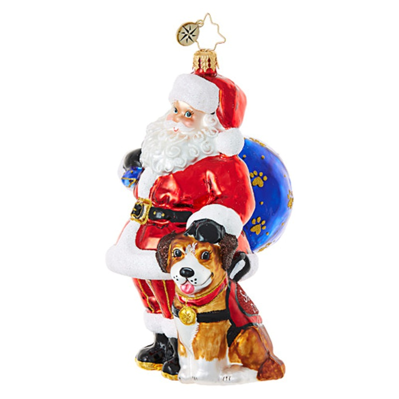 Christopher Radko Glass Ornament - Ready to Serve Service Animal 2017