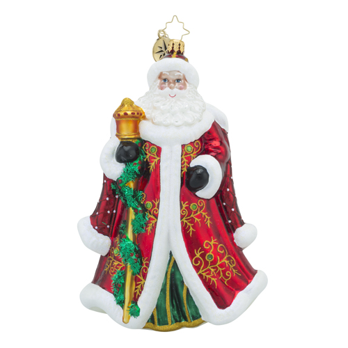 "Christopher Radko Glass Ornament - ""Regency Nicholas"""